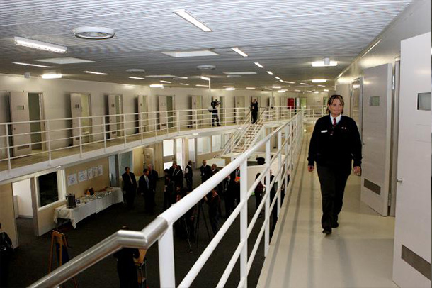 An inside view of the Port Phillip Prison, project by Insulpak