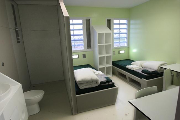 An inside view of the Port Phillip Prison room, project by Insulpak