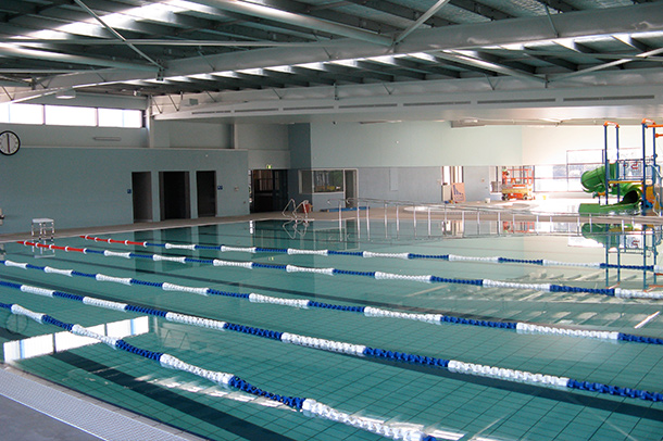 An inside view of the pool at Bellarine Aquatic & Sports Centre, project by Insulpak