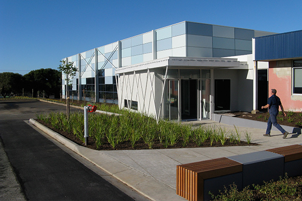 An outside view of Bellarine Aquatic & Sports Centre, project by Insulpak