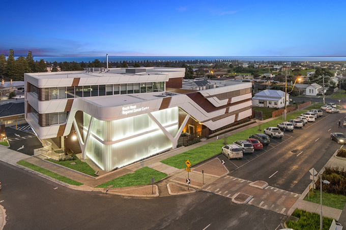 An aerial view of South West Regional Cancer Center
