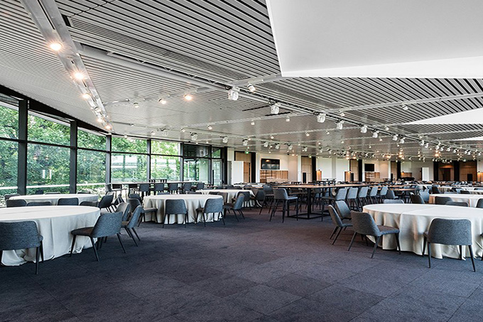 An inside view of the Olympic park banquet hall, by Insulpak
